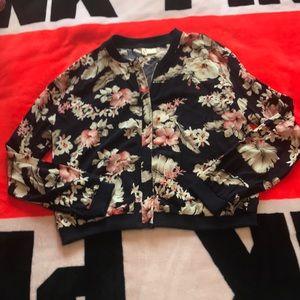 Jackets & Blazers - Flower print bomber
